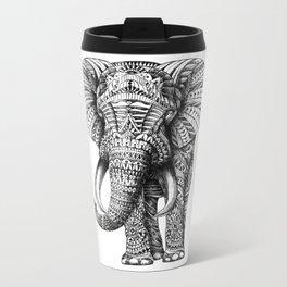 Ornate Elephant Metal Travel Mug
