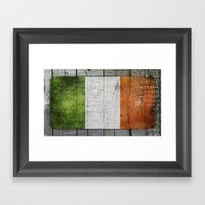 Flag of Ireland Framed Art Print