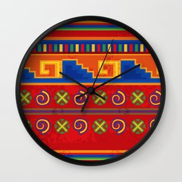 Red Mexico Wall Clock
