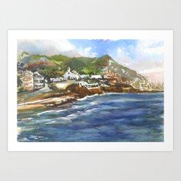 Sitges Beach, Spain Art Print
