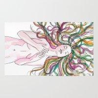 venus Area & Throw Rugs featuring venus by Beth Jorgensen