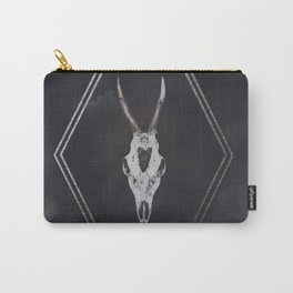 Roe Deer Skull with Death Hawk Moth Carry-All Pouch