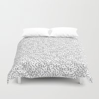 polkadot Duvet Covers featuring Polkadot Dominos by chelsea dawn brown