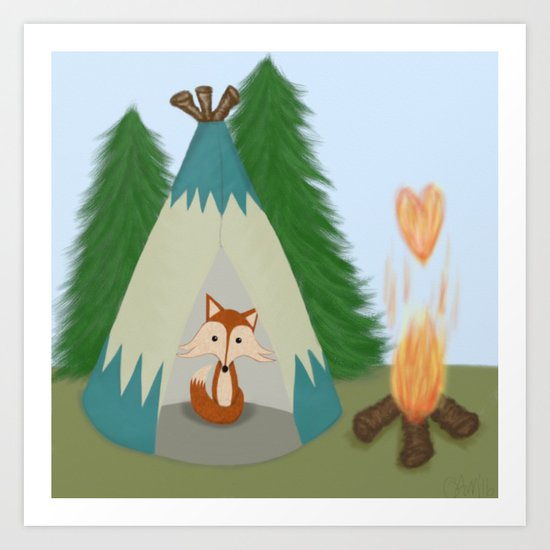 The Lone Fox  Art Print