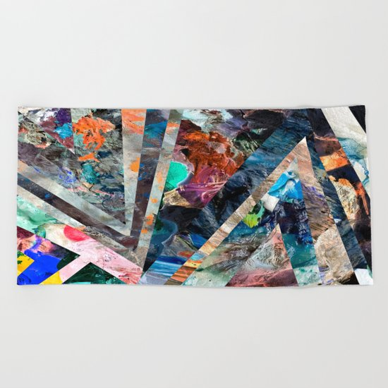 Triangle Forest Abstract Rainbow Beach Towel