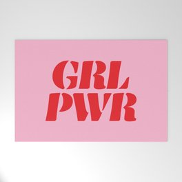 Girl Power GRL PWR Welcome Mat