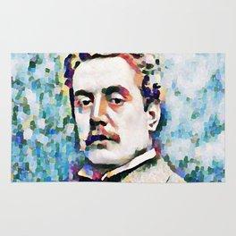 Giacomo Puccini (1858 – 1924) digitized photography Rug