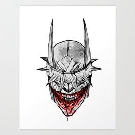 Bloody Bat Laughing Art Print