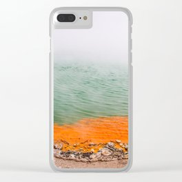Orange Edged Clear iPhone Case
