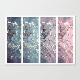 Vincent Van Gogh : Almond Blossoms Panel arT Pastel Pink Blue Teal Canvas Print