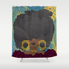 SHE KNOWS HER WORTH Shower Curtain