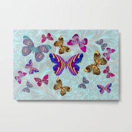Fractal Butterfly Paradise Metal Print