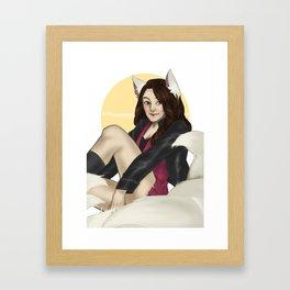 Kira Yukimura: kyubi Framed Art Print