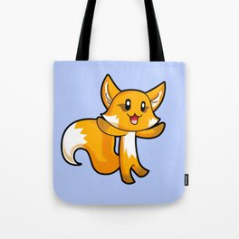 Fox; Animal Fable Tote Bag