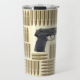 Gun and bullets Travel Mug
