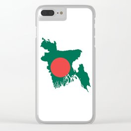 Bangladesh flag map Clear iPhone Case