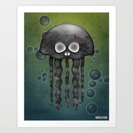 Jelly Swamp Print by NREAZON Art Print