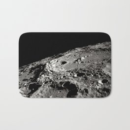 Terraced Wall Crater on the Lunar Limb Bath Mat
