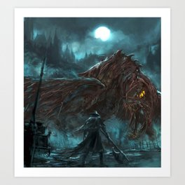 Beasts all over the shop Art Print