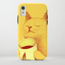 Coffe cat iPhone Case