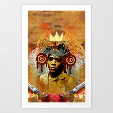 Art Deity: The Radiant Child Jean Michel Basquiat Art Print