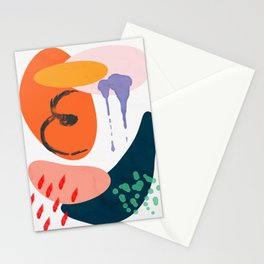 abstract dripping Stationery Cards