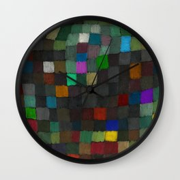 Spring Colors of May, Geometric Color Theory Painter's Palette portrait painting by Paul Klee Wall Clock