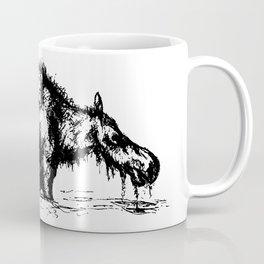 Moose Wading Through Water Coffee Mug