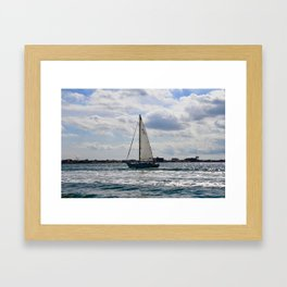 Fifty Percent Sailing Framed Art Print