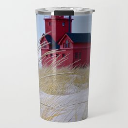 The Lighthouse Big Red in Holland Michigan Travel Mug