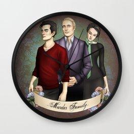 Murder Family Wall Clock