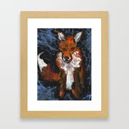 Cosmic Fox Framed Art Print