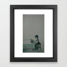 turn left Framed Art Print