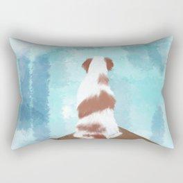 Deschutes The Brittany Spaniel Rectangular Pillow