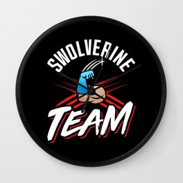 Swolverine Team Wall Clock