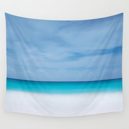 Tropical paradise beach turquoise sea ocean nature travel hipster Caribbean Fiji horizon photograph Wall Tapestry