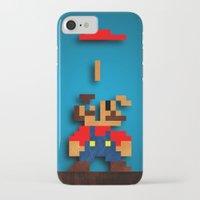 tetris iPhone & iPod Cases featuring Mario Tetris by Darthdaloon