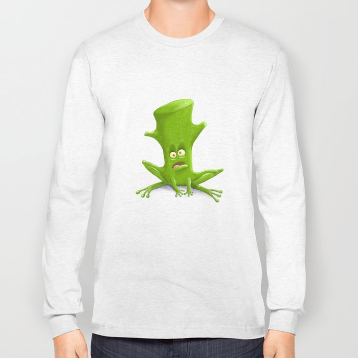 Log in a Frog Long Sleeve T-shirt