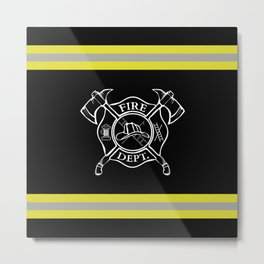 Firefighter Home Metal Print
