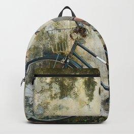 Children Ride Bicycle Graffiti Backpack