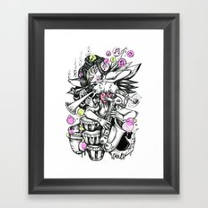 Music is Beauty Crumbling Colour Framed Art Print