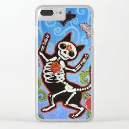 Gato de Los Muertos Clear iPhone Case
