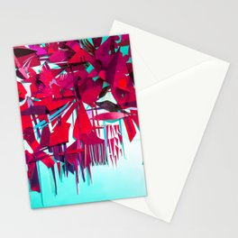 Red Petals- Fantasy Floral Decoupage Stationery Cards