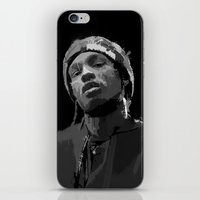 asap rocky iPhone & iPod Skins featuring ASAP Rocky by Léo Faulhaber