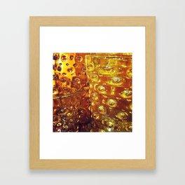 Photograph. Amber Glass Vases Framed Art Print