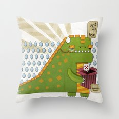 Godzilla get´s hungry!!! Throw Pillow