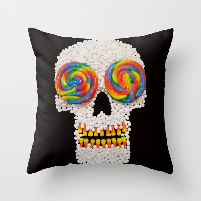 Skullipop Throw Pillow