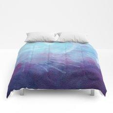 Blue Watercolor I Comforters