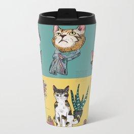 Cats Reunion Metal Travel Mug