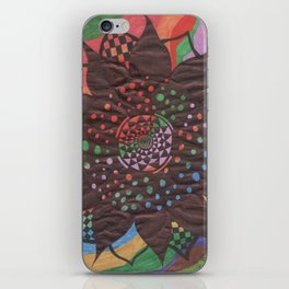 Colorful background with flower iPhone Skin